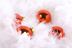 Christmas Ornaments with white space Stock Photo