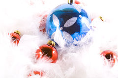 Christmas Ornaments with white space Stock Photography