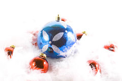 Christmas Ornaments with white space Royalty Free Stock Photography