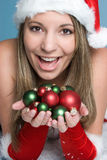 Christmas Ornaments Woman Stock Photography