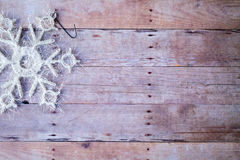 Christmas ornaments on a wood background Stock Photography