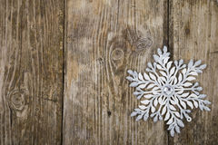 Christmas ornaments on the wooden background. Stock Photos