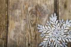 Christmas ornaments on the wooden background. Royalty Free Stock Images