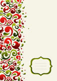 Christmas ornate postcard background Stock Image