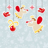 Christmas ornate vector card Stock Photos