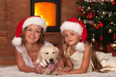 Christmas with our doggie Royalty Free Stock Images