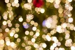 Christmas outdoor decorations turned into a nice shining bokeh background Royalty Free Stock Photography