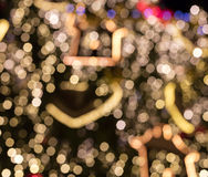 Christmas outdoor decorations turned into a nice shining bokeh background Royalty Free Stock Photos