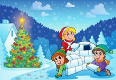 Christmas outdoor theme 3 Royalty Free Stock Photography