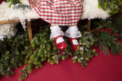 Christmas Outfit, Dress and Shoes Royalty Free Stock Photo