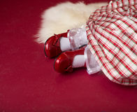 Christmas Outfit, Dress and Shoes Stock Photos