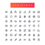 Christmas Outline Icons Set Royalty Free Stock Image