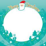 Christmas Outline Ornaments Border Royalty Free Stock Photo