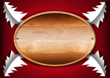 Christmas - Oval Wood Board Royalty Free Stock Photos