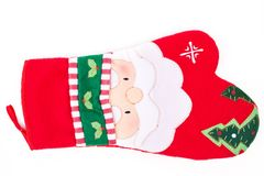 Christmas oven protective mitt. Stock Images
