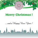 Christmas over the city Royalty Free Stock Photography