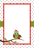 Christmas owl card Stock Photography