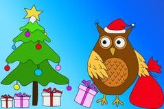 Christmas owl Stock Photography