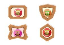 Christmas owl frames Stock Images