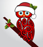Christmas owl Royalty Free Stock Image