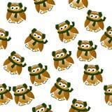Christmas owl in santa hat Royalty Free Stock Photo