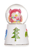 Christmas owl snow globe Royalty Free Stock Photo