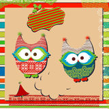 Christmas owls Stock Photography