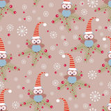 Christmas owls Stock Photography