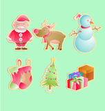 Christmas pack. Christmas holiday with 6 icon vector illustration