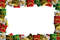 Christmas Package Frame Royalty Free Stock Photo