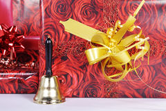 Christmas packaged with bell Stock Images