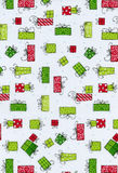 Christmas packages. Christmas package background stock illustration