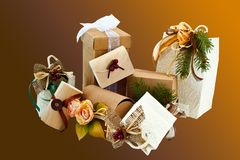 Christmas Packages 2 Royalty Free Stock Photography