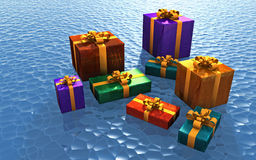 Christmas Packages Stock Photo