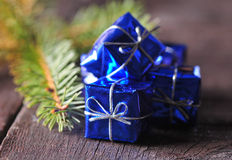 Christmas packages Royalty Free Stock Photos