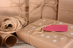 Christmas Packages and Twine Royalty Free Stock Image