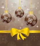 Christmas packing with set balls Stock Image