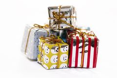 Christmas packs. Christmas presents isolated Stock Photography