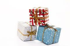 Christmas packs. Isolated Christmas packs Royalty Free Stock Photo