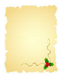 Christmas page. Vintage christmas page isolate� on a white. Vector illustration Royalty Free Stock Photos