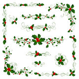 Christmas page dividers and decorations. Stock Photos