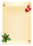 Christmas page Royalty Free Stock Photography