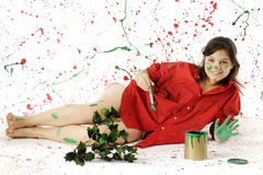 Christmas Painter Stock Photos
