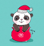Christmas panda Royalty Free Stock Photo