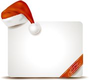 Christmas panel with Santa's hat Royalty Free Stock Photo