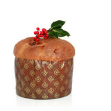 Christmas Panetone Cake Stock Images