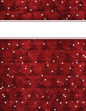 Christmas Paper Background. A Red Christmas-Themed Background with christmas trees and falling snow and a message banner up top. The Background has a worn Royalty Free Stock Photo