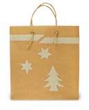 Christmas paper bag Stock Photography