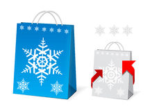 Christmas Paper Bag Design Royalty Free Stock Photo