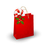 Christmas paper bag. On a white background Stock Photo